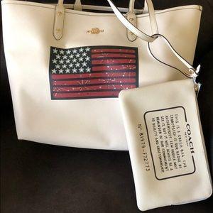Coach Bags - Coach Reversible American Flag PVC City Tote